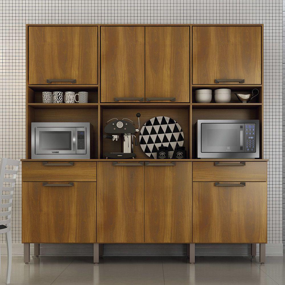 Kit Cozinha Imola - Salleto - Nogal
