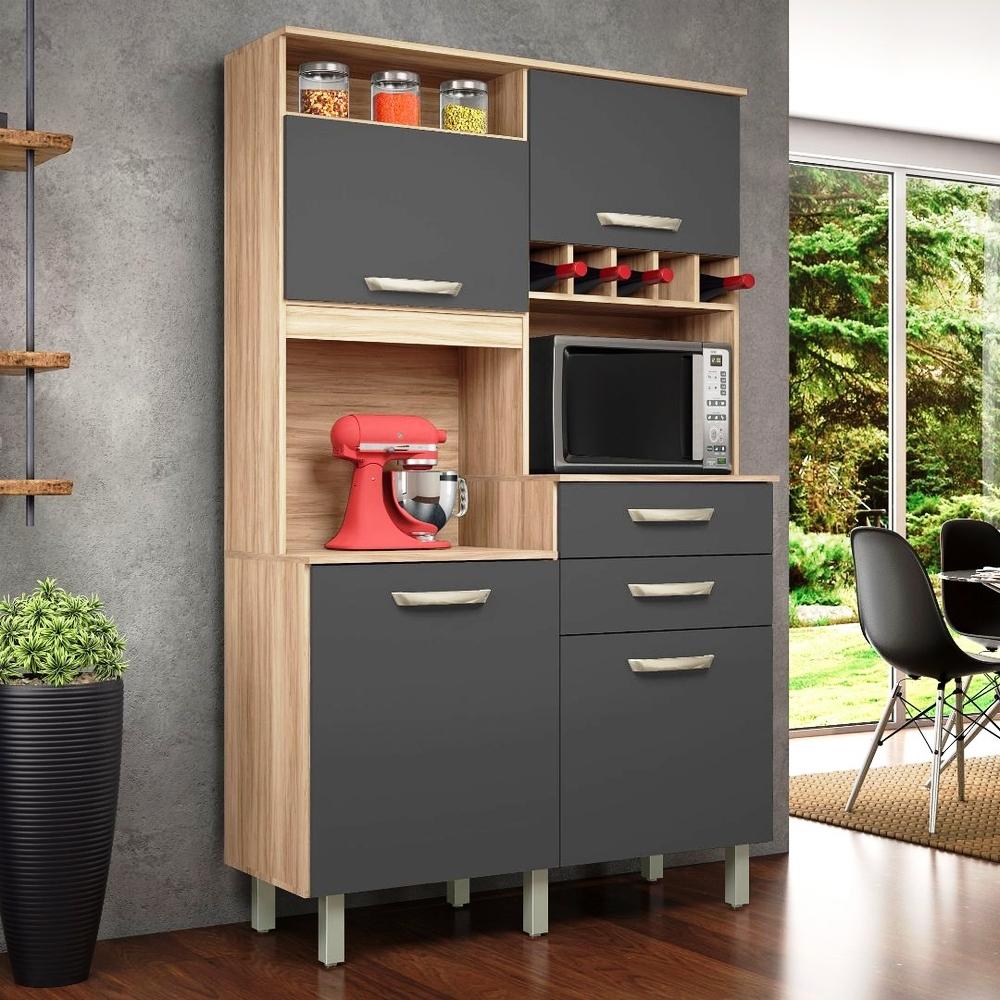 Kit Cozinha Smart Junior - Nesher - Cedro/Grafite