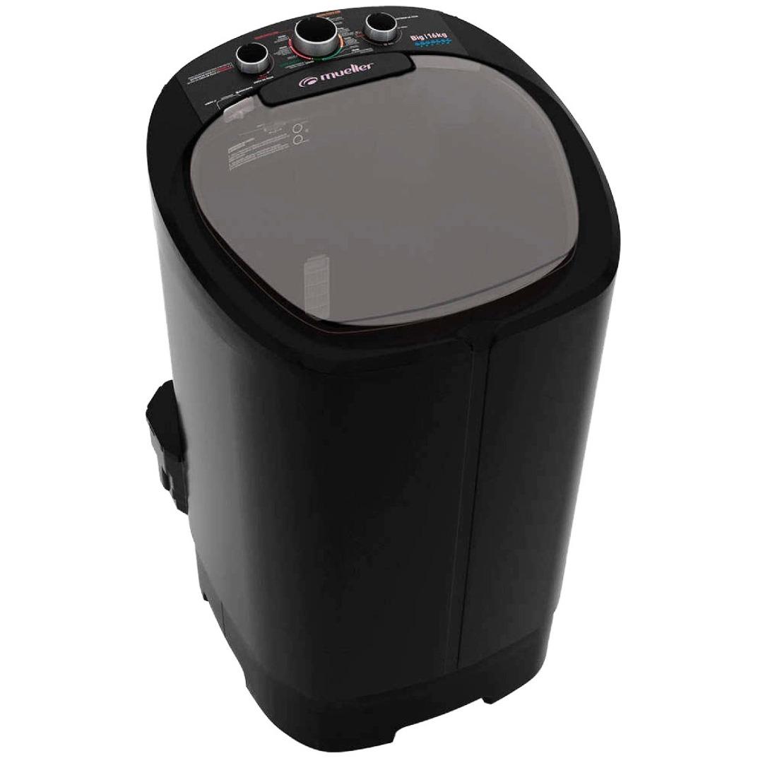 Lavadora Big Semiautomática 16 Kg - Mueller - Preto - 127 Volts