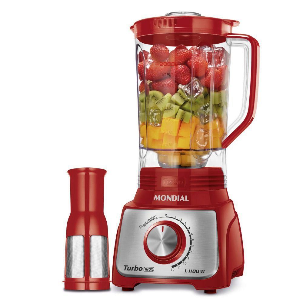 Liquidificador L - 1100 - Mondial - Vermelho -  220 Volts