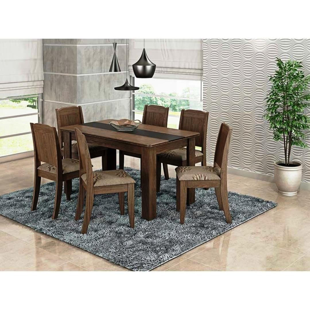 Mesa Barbara 6 Cadeiras - Cimol - Marrocos/Preto