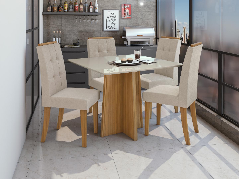 Mesa Celebrare 4 Cadeiras - Lopas - Rovere/Naturale - Lopas
