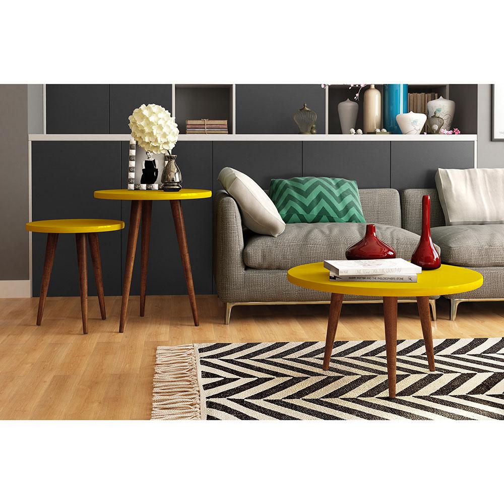 Mesa Lateral Legs  - Patrimar Móveis - Amarelo
