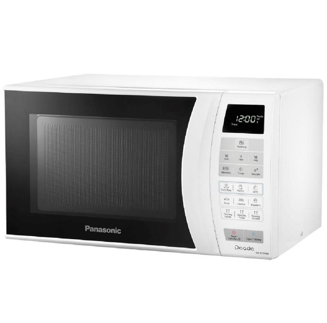 Micro-ondas Dia-a-Dia 220V com Desodorizador e Receitas Pré-programadas NN-ST254 Branco 21L - Panasonic