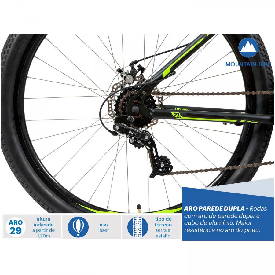 Mountain Bike Velox Aro 29 Freio a Disco Mecânico 21 Marchas - Caloi