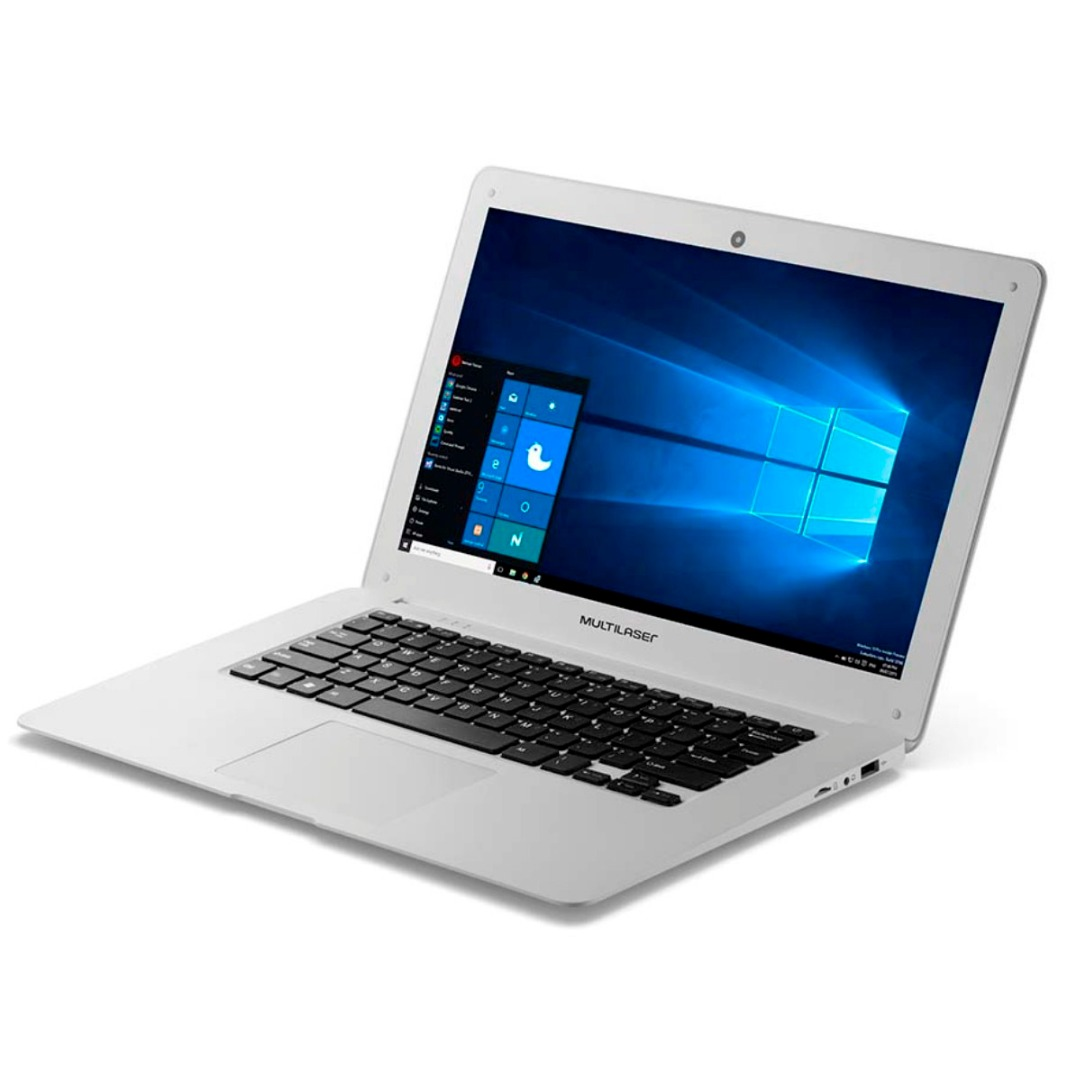 Notebook Atom PC102 2GB Ram Win10 32GB 14 polegadas Branco - Multilaser