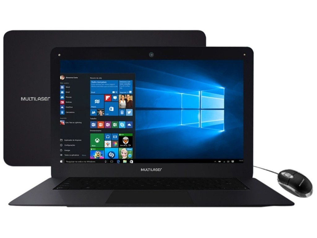 Notebook Legacy Intel Quad Core Tela HD 14' Windows 10 RAM 2GB Preto PC101 - Multilaser