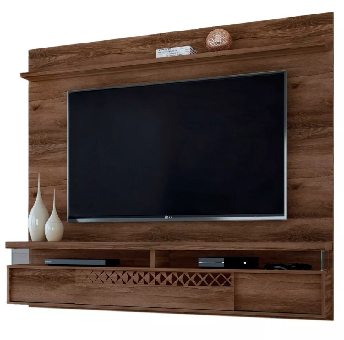 Painel Para TV Bancada Suspensa Blend Canela - Grappa