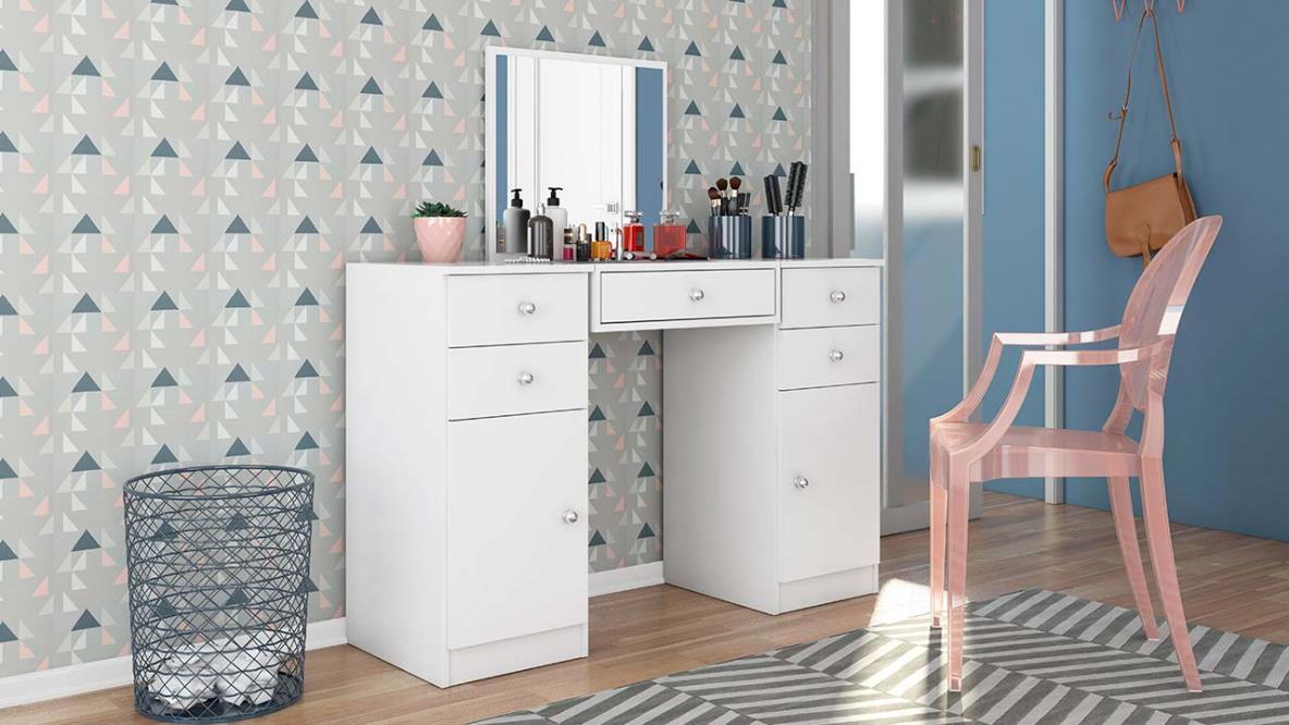 Penteadeira  com Espelho – Demóbile 5G 2P