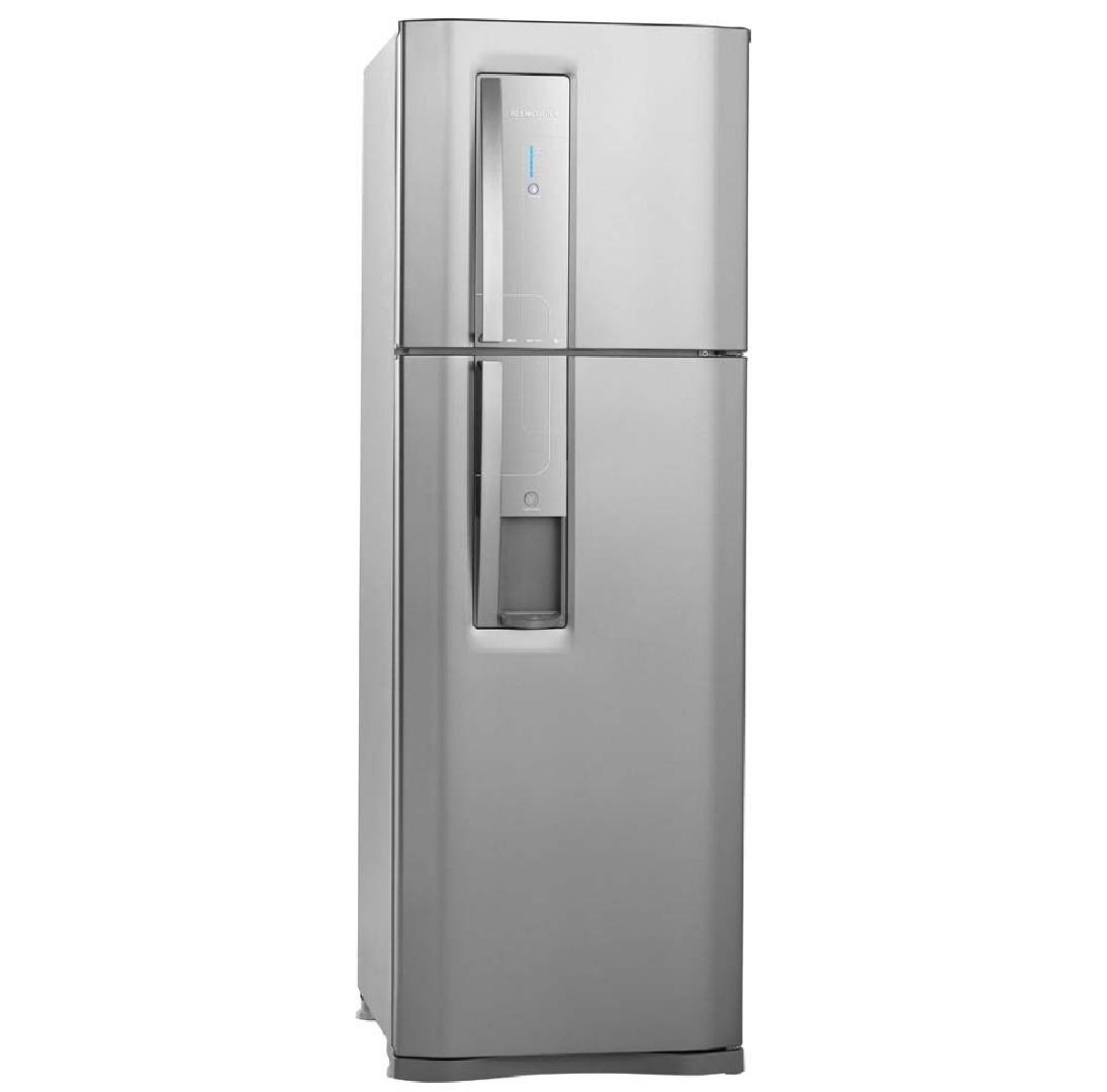 Refrigerador Duplex DW42X Frost Free com Dispenser de Água e Controle de Temperatura Blue Touch 380 L Inox 220V - Electrolux