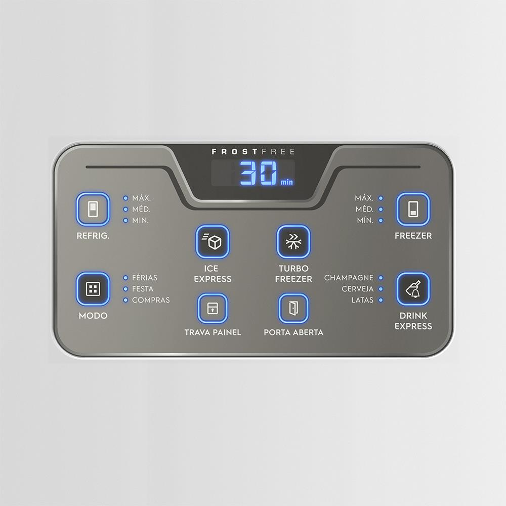Refrigerador/Geladeira Frost Free com Painel Blue Touch 454L Branco - Electrolux - 220 Volts