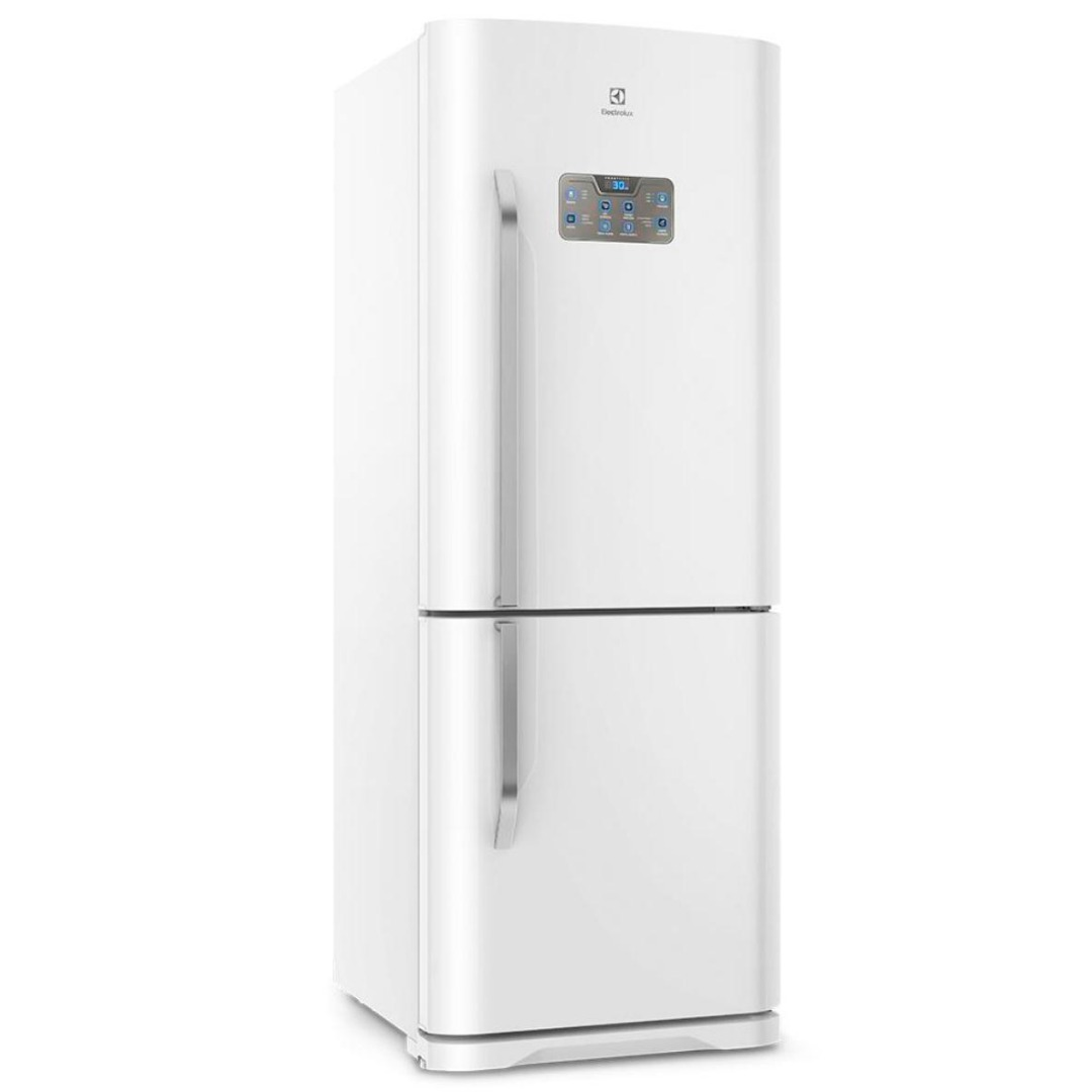 Refrigerador Frost Free DB53 Bottom com Painel Blue Touch 454L Branco - Electrolux