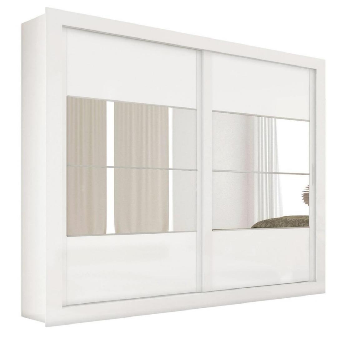 Roupeiro Ipanema 2 Portas Com 4 Espelhos - Branco - Docelar