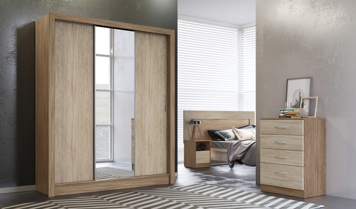 Roupeiro Wood 3 Portas - Demobile - Nog/Vanilla