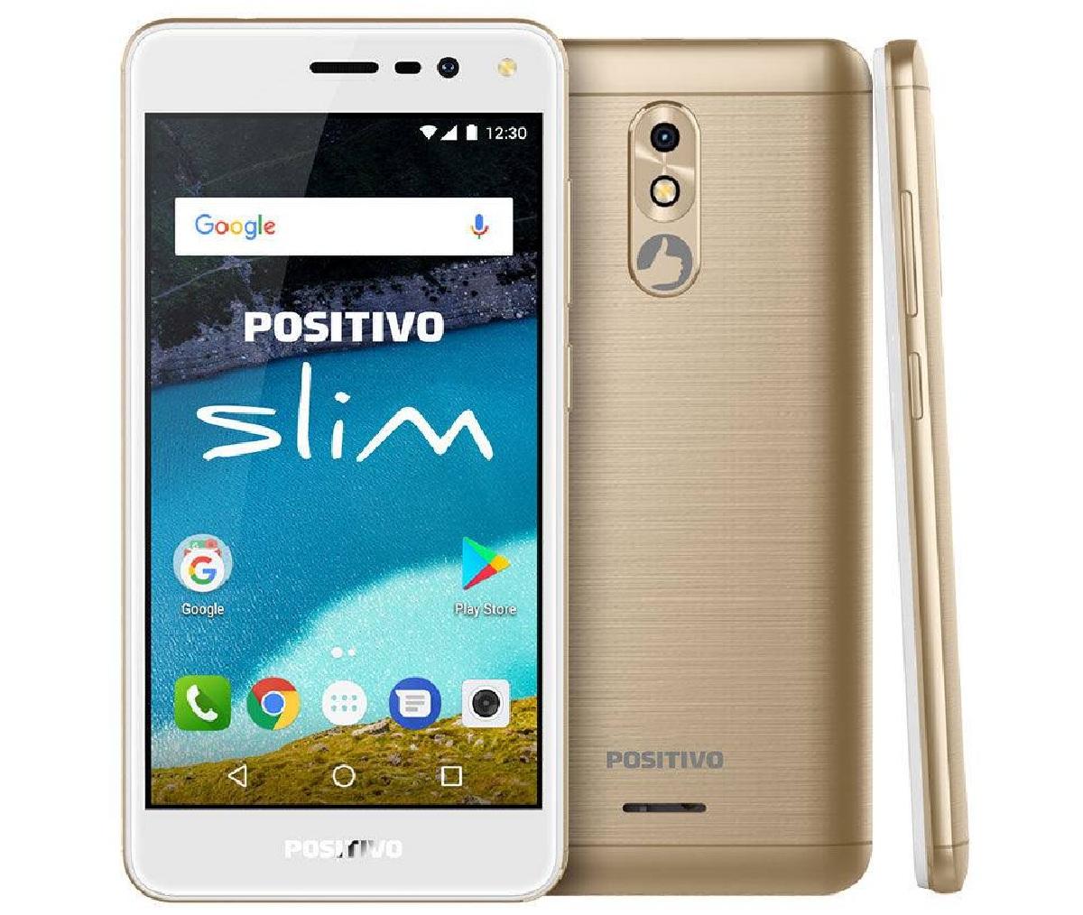 Smartphone Celular S510 Slim Dourado Android 7.0 - Positivo