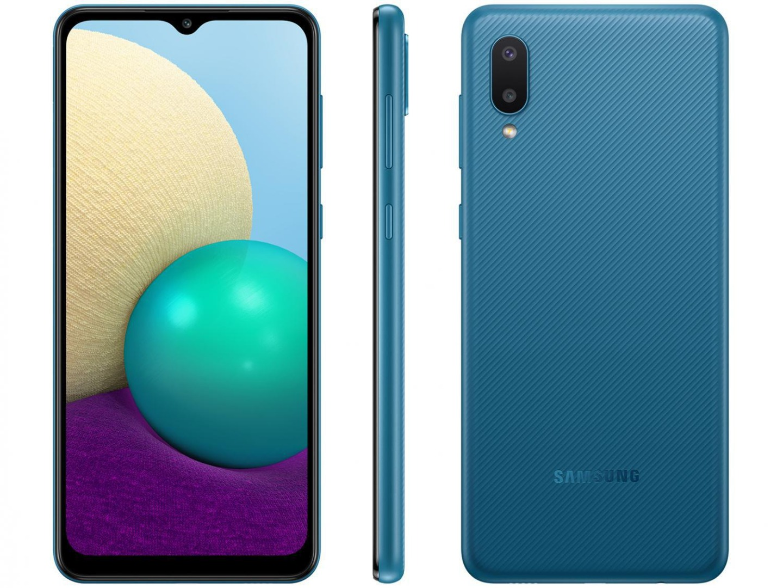Smartphone Galaxy A02 - Samsung - Azul