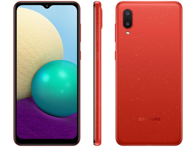 Smartphone Galaxy A02 - Samsung - Vermelho