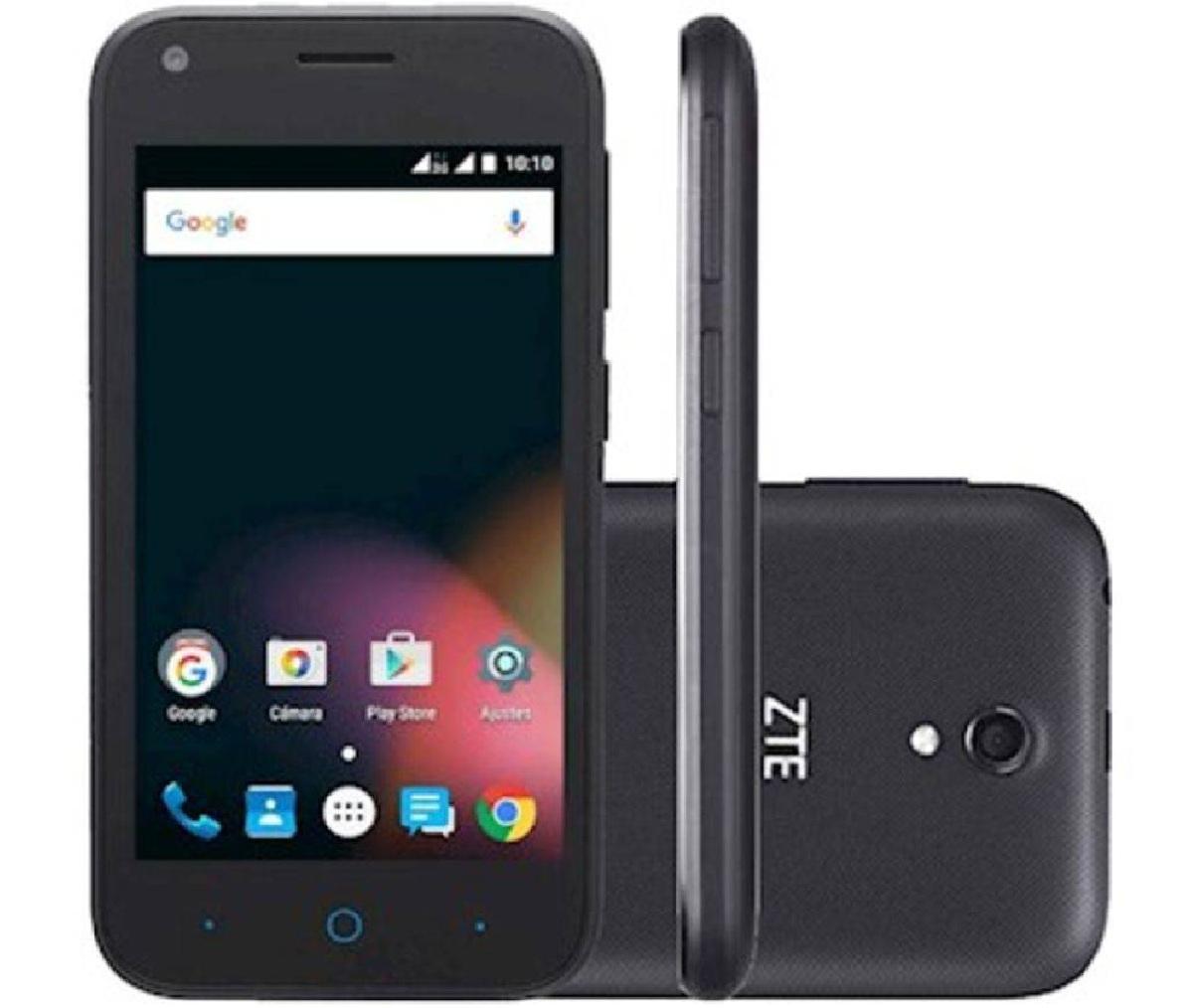 Smartphone L110 Dual Sim 3G Tela 4'', 4GB, 5MP C/ 02 Capas Extras - ZTE