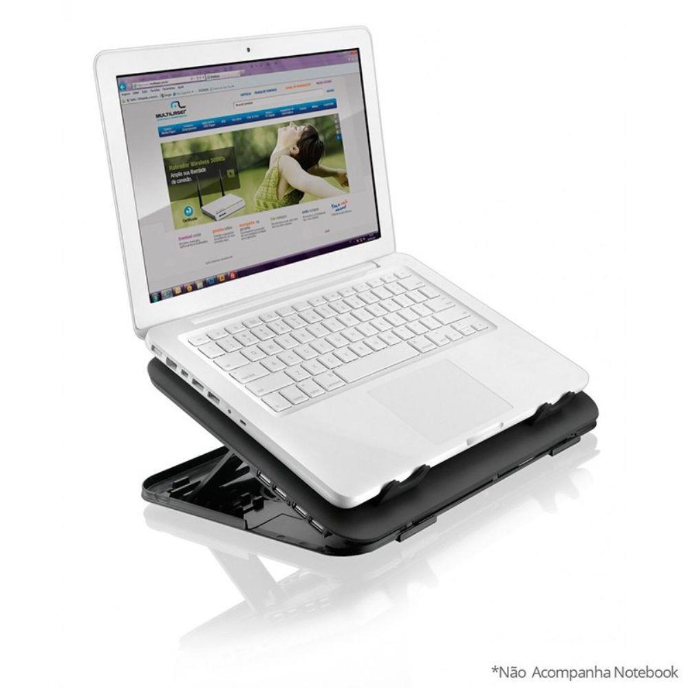 Suporte para Notebook com Cooler e Hub AC120 - Multilaser