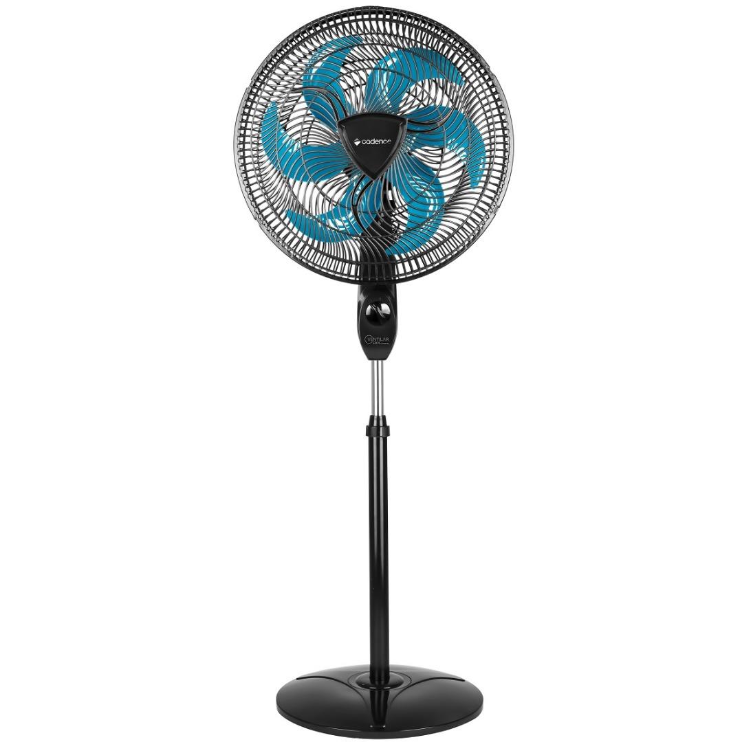 Ventilador de Coluna 110V 6 pás 40cm Ventilar Eros Supreme VTR865 Preto - Cadence